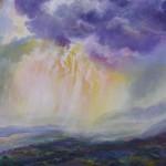 ABOVE RANCHOS, Macpherson, 24x28, acrylic on canvas