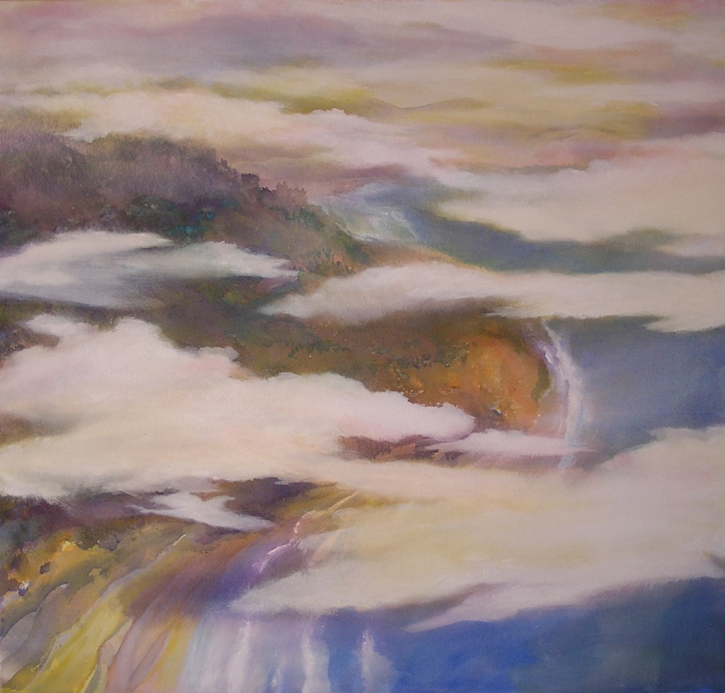 ABOVE TORREY POINT, Macpherson, 34x36, acrylic on canvas