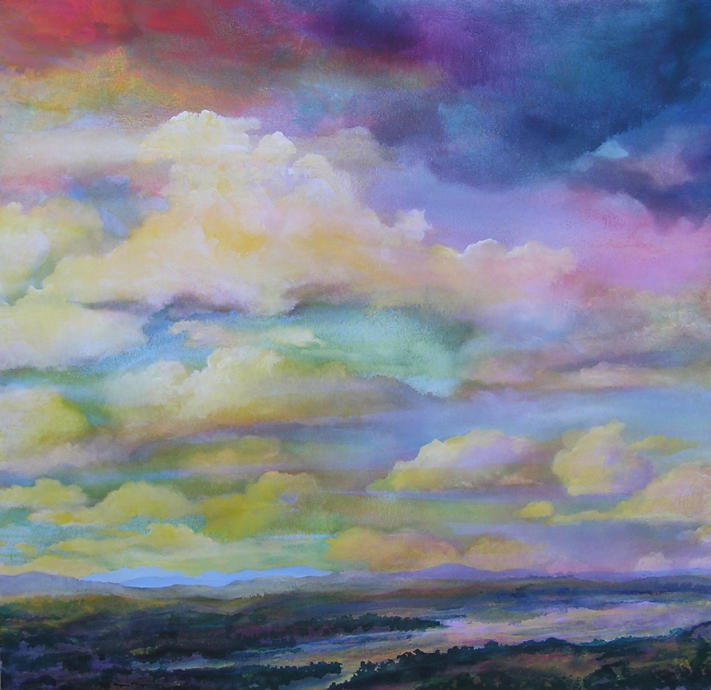 BEACON, Angus Macpherson, 52x54, acrylic on canvas
