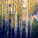 THROUGH THE AUTUMN WOODS, 36X78