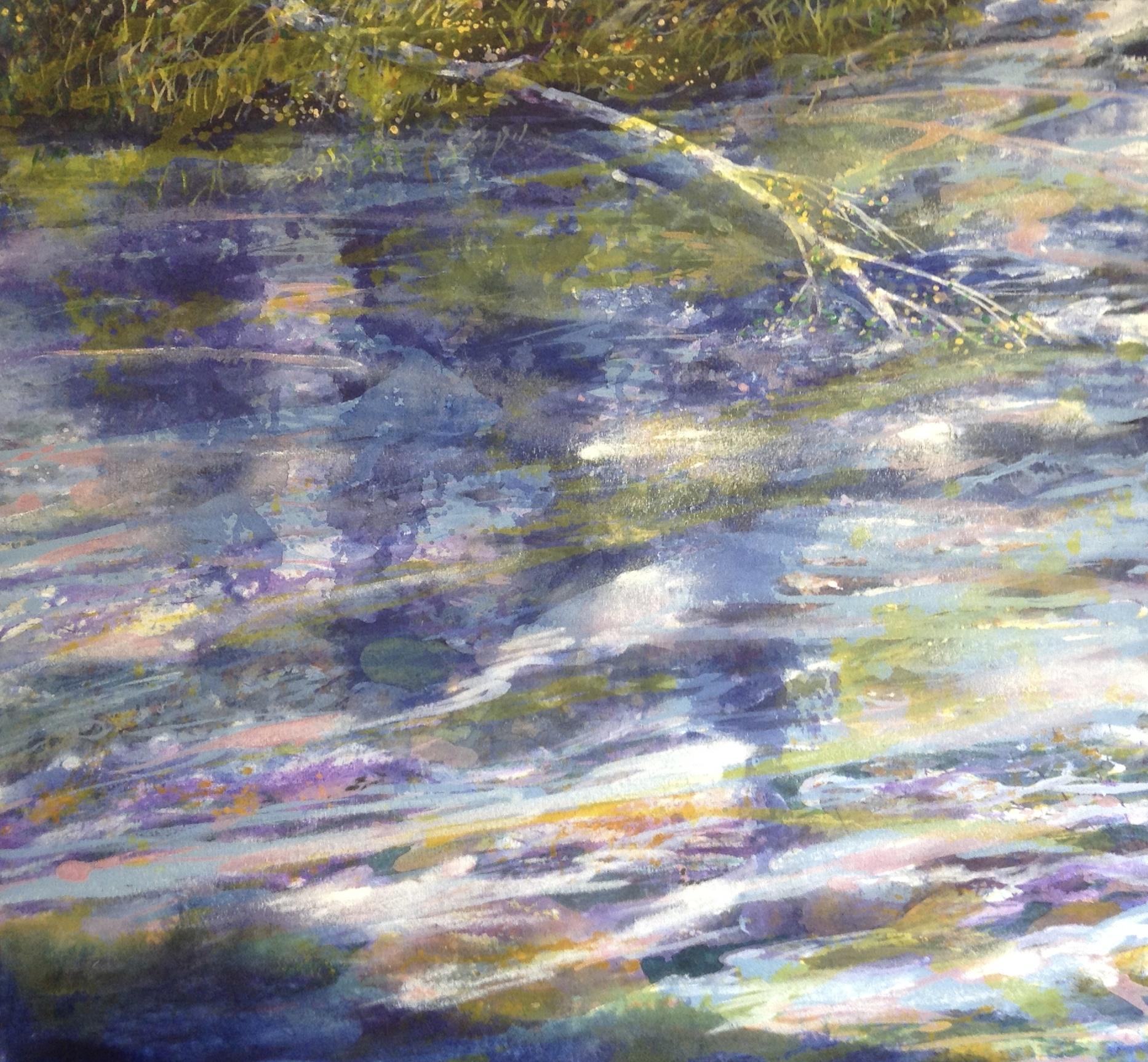 RITO ESPIRITO REFLECTION, 28X30, acrylic on canvas
