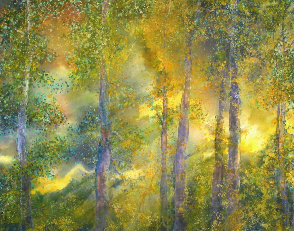YELLOW LIGHT , 48X60, Macpherson, acrylic on canvas